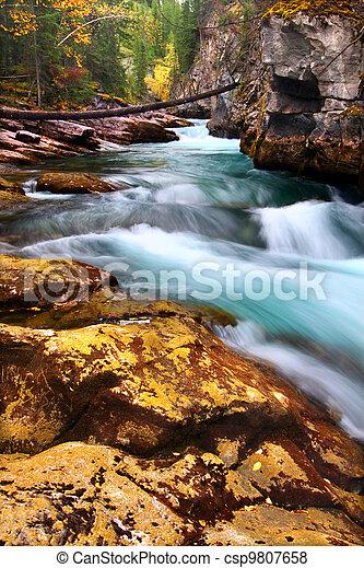 Cascades of Maligne Canyon Canada - csp9807658