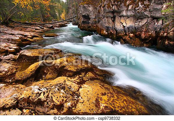 Cascades of Maligne Canyon Canada - csp9738332