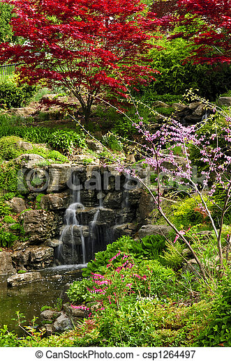 Cascading waterfall - csp1264497