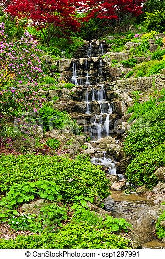 Cascading waterfall - csp1297991