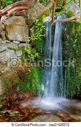 cascading waterfall - csp21428572