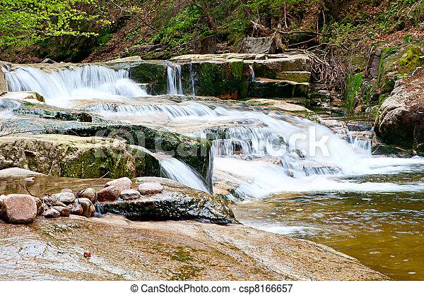 Cascading Waterfall - csp8166657