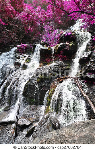 Cascading waterfall - csp27002784