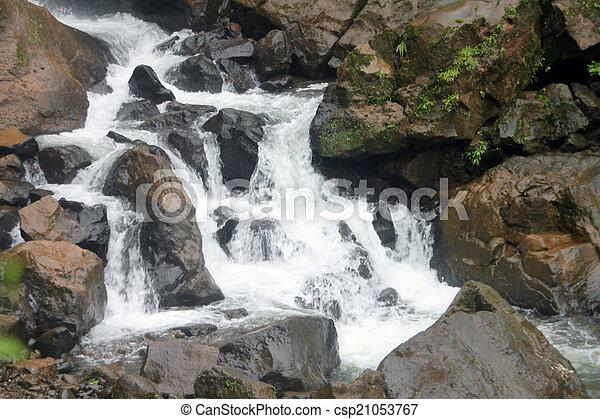 cascading waterfall - csp21053767
