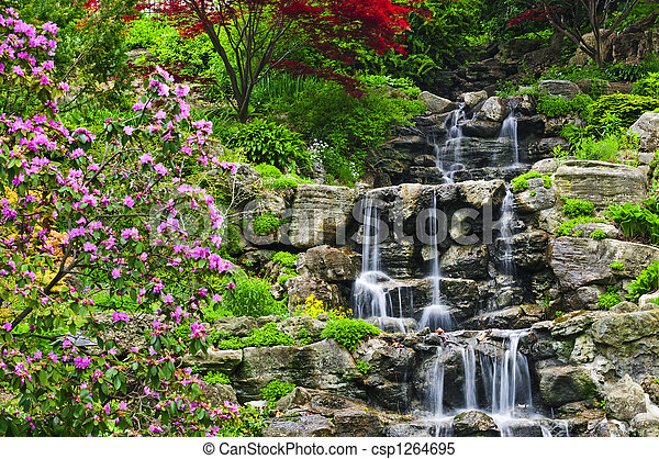 Cascading waterfall - csp1264695