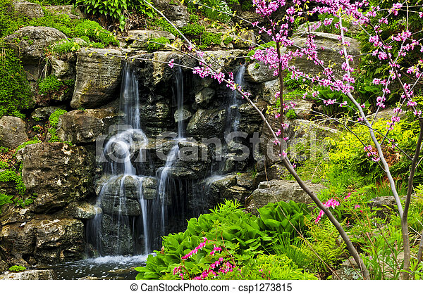 Cascading waterfall - csp1273815