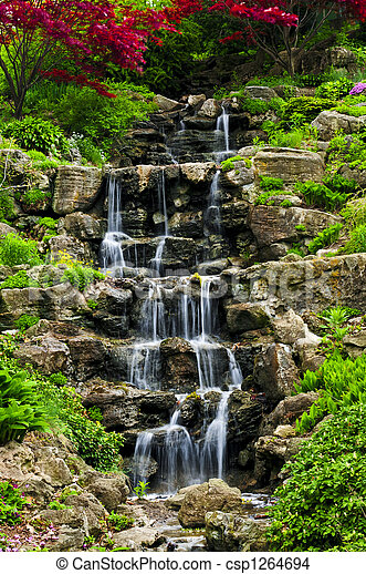 Cascading waterfall - csp1264694