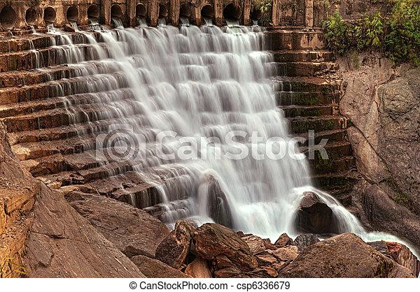 Cascading waterfall - csp6336679