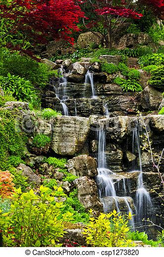 Cascading waterfall - csp1273820
