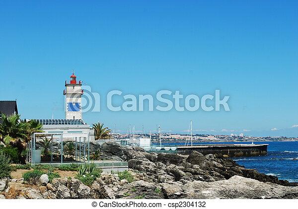 cascais, krajobraz, coastline, portugalia - csp2304132