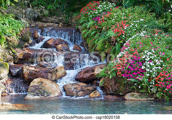 cascata, hdr, paesaggio - csp18020158