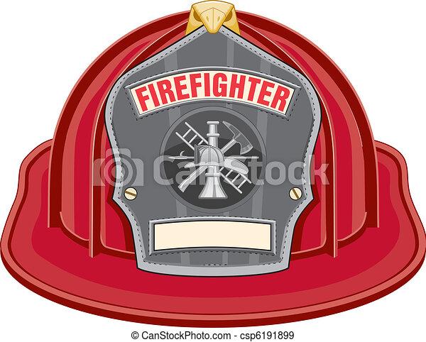 El casco rojo de los bomberos - csp6191899