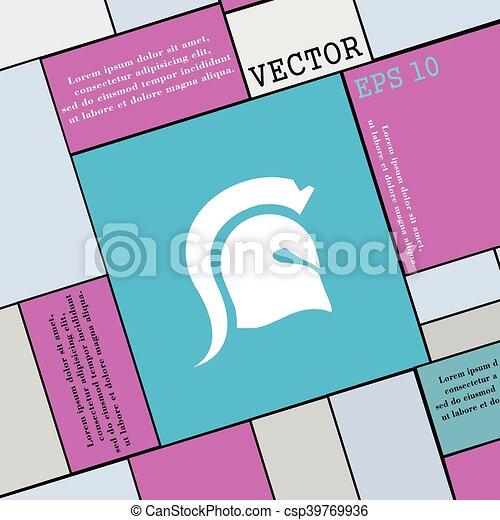 Señal de icono espartano. Estilo moderno para tu diseño. Vector - csp39769936