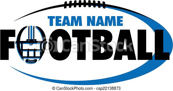 Diseño de fútbol con casco - csp22138873