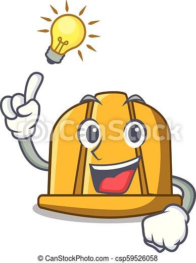 Tengo una idea para la caricatura de mascota de cascos de construcción - csp59526058