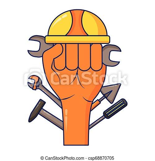 Herramientas de casco de mano levantadas - csp68870705