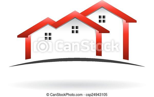 case, tetto, logotipo - csp24943105