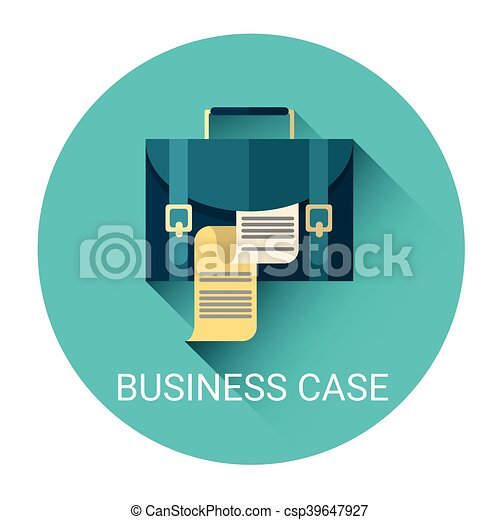 Case with document business icon flat vector illustration case with document business icon csp39647927 colourmoves