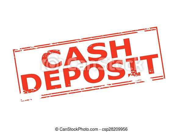 Rubber stamp with text cash deposit inside, vector ...
