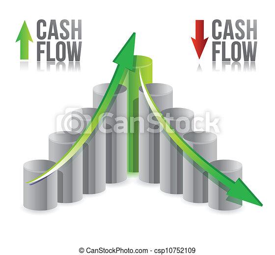 cash flow illustration graph - csp10752109