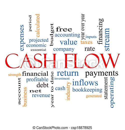 Cash Flow Word Cloud Concept - csp18878925