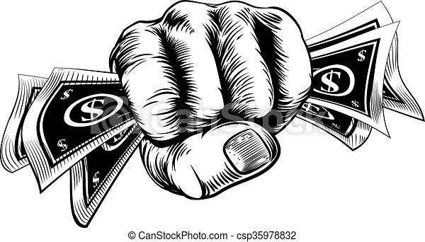 cash money fist hand hand in a fist holding cash money dollar bills