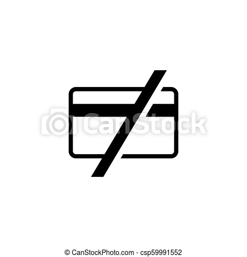 Cash Only, No Credit Cards Accepted Flat Vector Icon