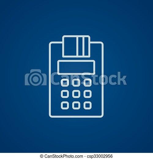 Cash register line icon. - csp33002956