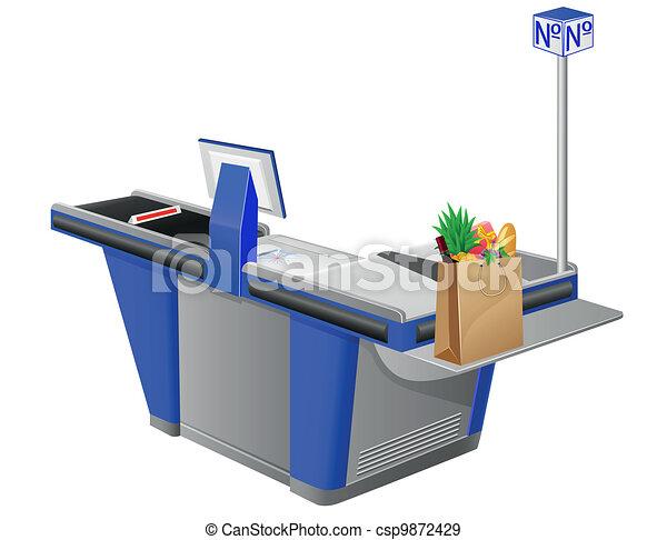cash register terminal - csp9872429