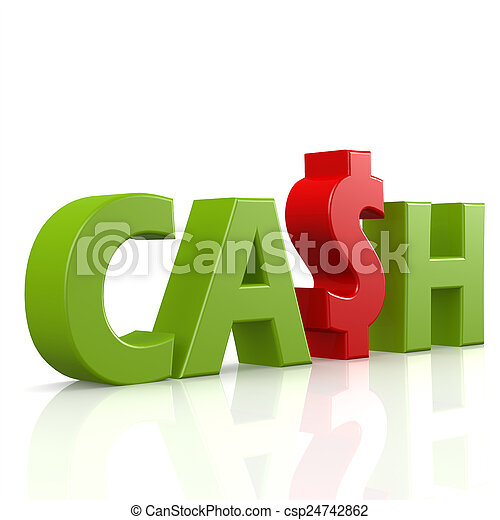 cash word in green image with hi res rendered artwork that could be