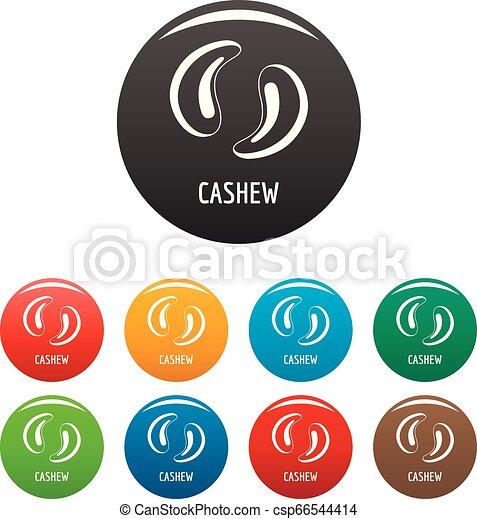 Cashew icons set color - csp66544414