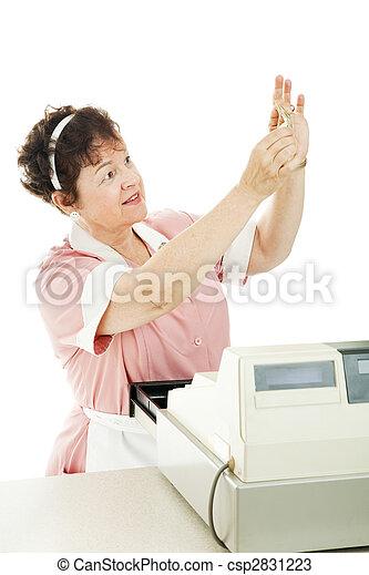Cashier Checks for Counterfeit Money - csp2831223