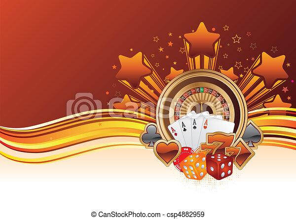 casino, achtergrond - csp4882959