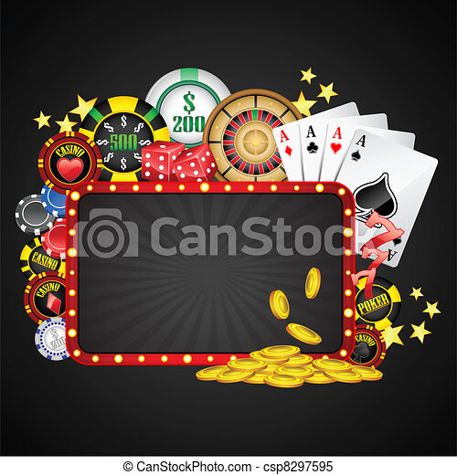 Casino Background - csp8297595