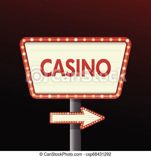 La pancarta del casino firma fondo - csp68431292