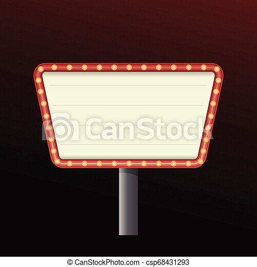 La pancarta del casino firma fondo - csp68431293
