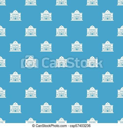 Casino building pattern vector seamless blue - csp57403236