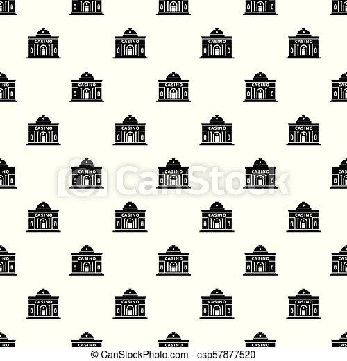 Casino building pattern vector seamless - csp57877520