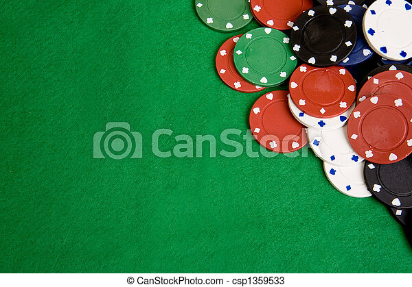 Casino Chip Background - csp1359533