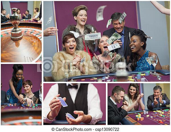 Collage de imágenes del casino - csp13090722
