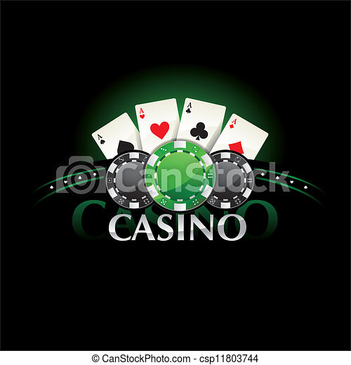 Casino element Poker cards and chip - csp11803744