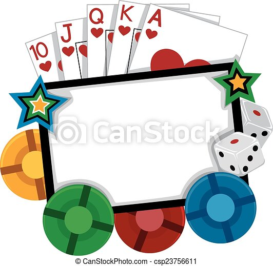 casino frame frame illustration featuring different gambling rh canstockphoto com gambling clipart free gambling clip art free images