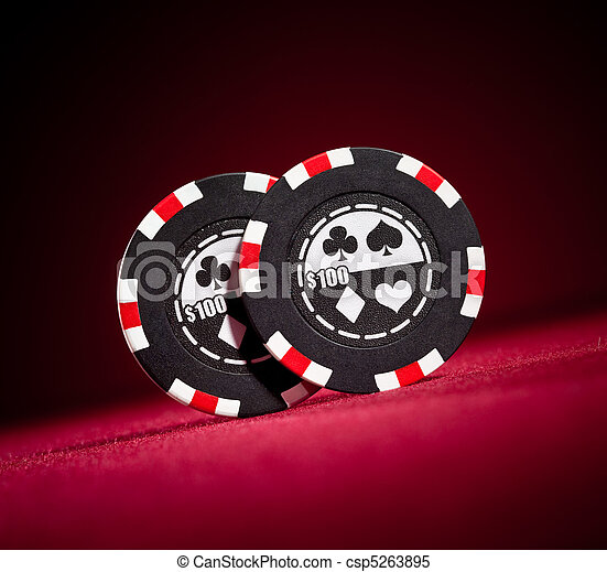 Casino gambling chips  - csp5263895