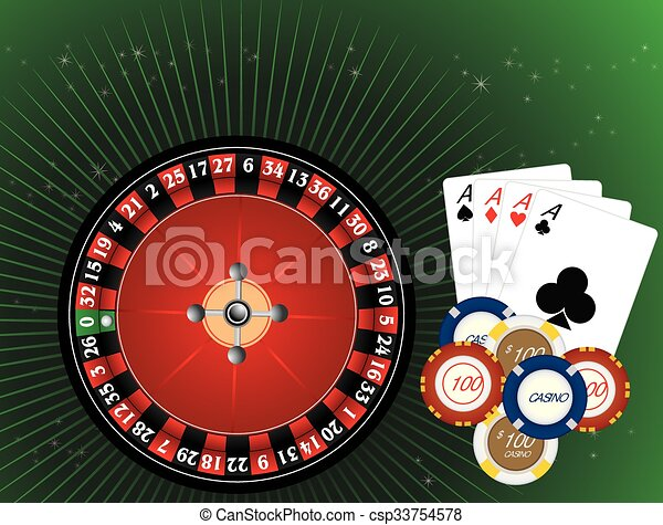 Casino Gambling, illustration - csp33754578
