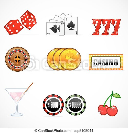 iconos del casino - csp5108044