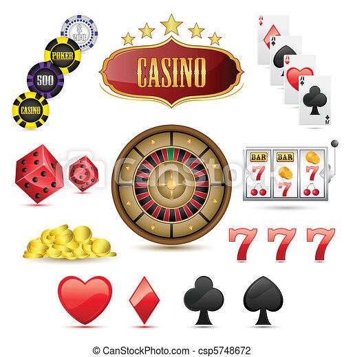 iconos del casino - csp5748672