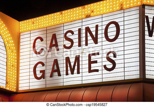 Señal de juegos de casino - csp19545827