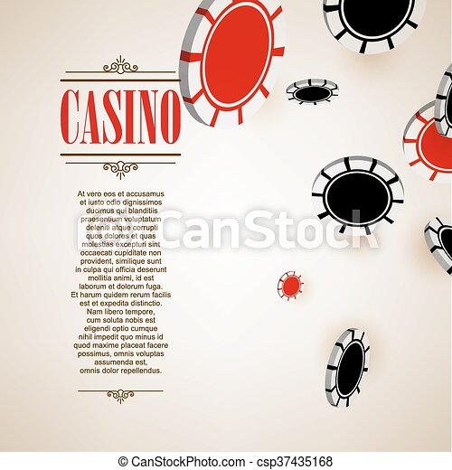 Casino logo poster background or flyer. - csp37435168