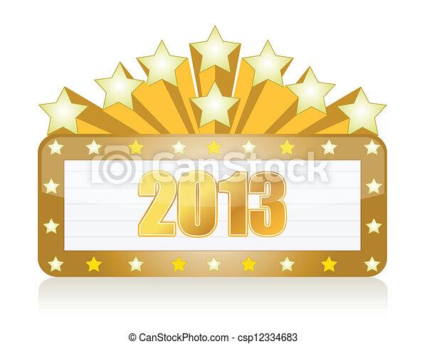 2013 neon casino sign - csp12334683