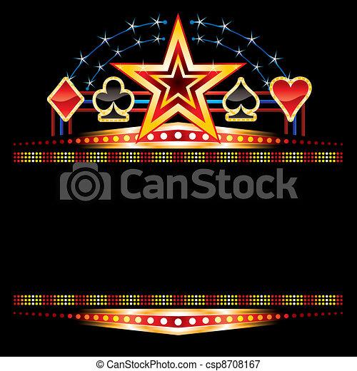 Casino neon - csp8708167